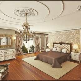 Nuevo Tasarım – Klasik villa projesi: klasik tarz tarz Yatak Odası