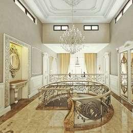Nuevo Tasarım – Klasik villa projesi:  tarz Koridor ve Hol