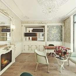 Nuevo Tasarım – Klasik villa projesi: klasik tarz tarz Çalışma Odası