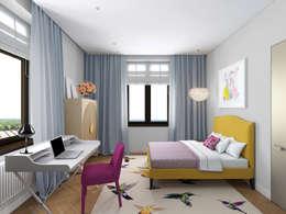 Chambre d'enfant de style de style eclectique par ELENA BELORYBKINA