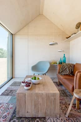 rustic Living room by ÁBATON Arquitectura