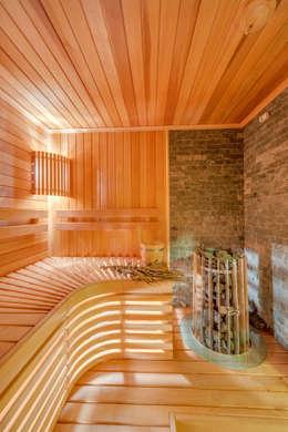Интерьеры загородного дома из клееного бруса: Спа в . Автор – Be In Art
