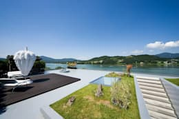 Floating House: hyunjoonyoo architects의  정원