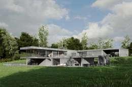 Dom z betonu / perspektywa 1: styl minimalistyczne, w kategorii Domy zaprojektowany przez Easst.com