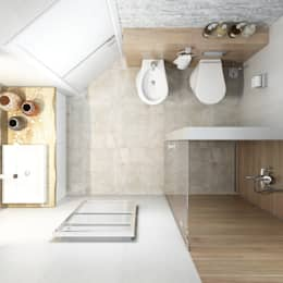 Квартира для Европейца: Ванные комнаты в . Автор – Сергей Харенко