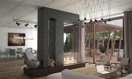 Дом-бетон: Гостиная в . Автор – Мастерская Grynevich Dmitriy