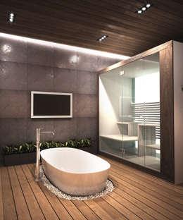 ЭНЕРГОЭФФЕКТИВНЫЙ ДОМ ГР-2: Ванные комнаты в . Автор – Мастерская Grynevich Dmitriy