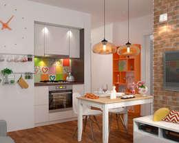 Малогабаритная однушка для молодой семьи: Кухни в . Автор – Мария Трифанова