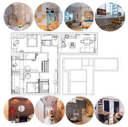 Проект трехкомнатной компактной квартиры: Стены в . Автор – Katerina Butenko