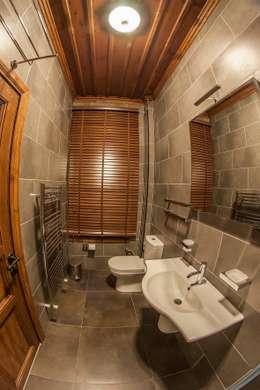 BOYTORUN ARCHITECTS – BARTIN KAF KONAK - BANYO TASARIMI: modern tarz Banyo