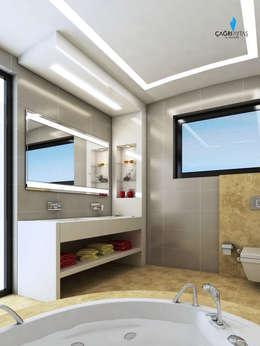Çağrı Aytaş İç Mimarlık İnşaat – HANEDAN KONUTLARI: modern tarz Banyo