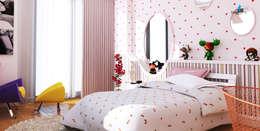 Çağrı Aytaş İç Mimarlık İnşaat – HANEDAN KONUTLARI: modern tarz Çocuk Odası