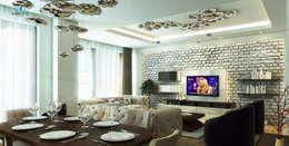 Çağrı Aytaş İç Mimarlık İnşaat – DE LIFE HOMES: modern tarz Oturma Odası