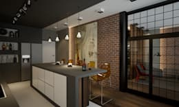 Квартира 200 кв.м. ЖК Европейский г. Краснодар: Кухни в . Автор – Room Краснодар