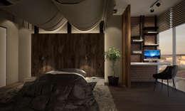 Квартира 200 кв.м. ЖК Европейский г. Краснодар: Спальни в . Автор – Room Краснодар