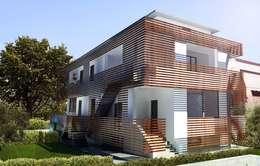 Maisons de style de style Moderne par ORA | Officina per la Rigenerazione e l'Architettura