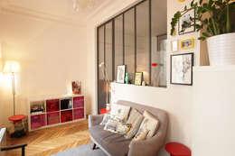 Rénovation complète d'un appartement : Chambre de style de style Moderne par NELSON Architecture Intérieure & Design