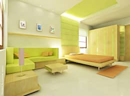Bedroom Interiors: minimalistic Bedroom by Preetham  Interior Designer
