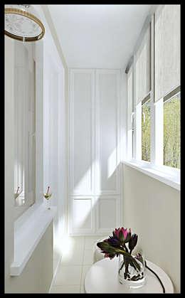 Балкон. Вид 2: Tерраса в . Автор – Defacto studio