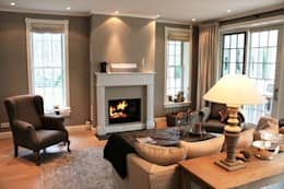 Projekty,  Salon zaprojektowane przez THE WHITE HOUSE american dream homes gmbh