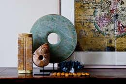 detail eetkamer: eclectische Woonkamer door HET LINDEHUYS interieurvormgeving