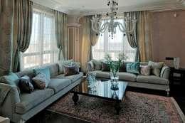 Salas de estar modernas por  Архитектурная Студия B&L