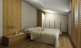 Niyazi Özçakar İç Mimarlık – H.Y. EVİ: modern tarz Yatak Odası