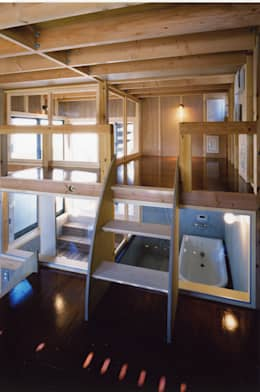 Salle de bains de style  par スタジオ4設計