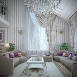 classic Living room by Студия Дизайна Интерьера MALGRIM