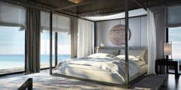 Интерьеры апартаментов отеля Sabah Al-Ahmad Khiran Сhalet, Кувейт: Спальни в . Автор – NEUMARK