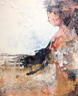 sandelwood 100x120cm:  Kunst  door Kathalijne Hes