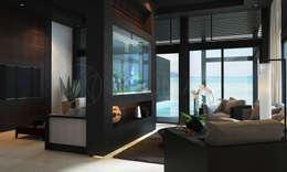 Интерьеры апартаментов отеля Sabah Al-Ahmad Khiran Сhalet, Кувейт: Гостиная в . Автор – NEUMARK