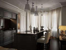 eclectic Kitchen by Архитектурное бюро Андрея Стубе