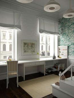 Chambre d'enfant de style de style eclectique par Архитектурное бюро Андрея Стубе