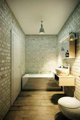 Baños de estilo industrial por CO:interior