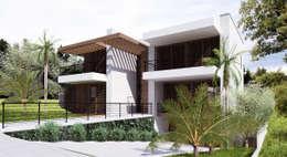 Casa MJD: Casas modernas por Mantovani e Rita Arquitetura
