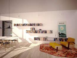 Dom WB: styl , w kategorii Salon zaprojektowany przez PB/STUDIO