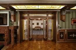Загородная жизнь (дом 2000 кв.м.): Гостиная в . Автор – Дизайн интерьера Проценко Андрея