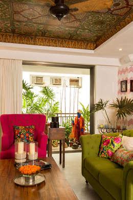 asian Living room by The Orange Lane