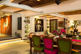 asian Dining room by The Orange Lane