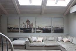 квартира в Москве на Поварской ул: Стены и пол в . Автор – YURTOV STUDIO