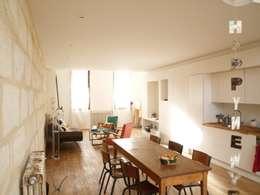 Réhabilitation d'échoppe à Bordeaux : Salle à manger de style de style eclectique par Matthieu Aldama Architecte