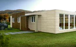 Casas de estilo moderno por Casas Cube