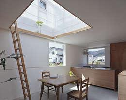山崎町の住居: 島田陽建築設計事務所/Tato Architectsが手掛けたダイニングです。