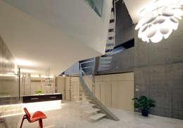 Couloir et hall d'entrée de style  par Atelier Boronski