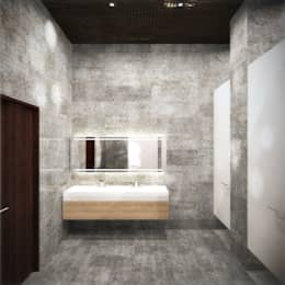 Санузел: Ванные комнаты в . Автор – Блаудерман Бюро