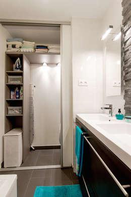 Salle de bains / buanderie /aménagement /rangement: Salle de bain de style de style Moderne par Am by Annie Mazuy
