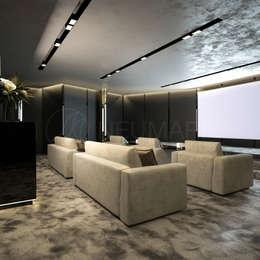 eclectic Media room by Марина Анисович, студия NEUMARK