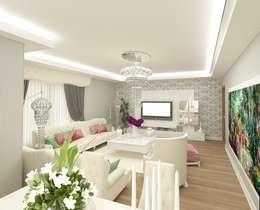 Meral Akçay Konsept ve Mimarlık – Feng Shui Uygulama: modern tarz Oturma Odası