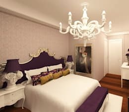 Meral Akçay Konsept ve Mimarlık – Feng Shui Uygulama: modern tarz Yatak Odası